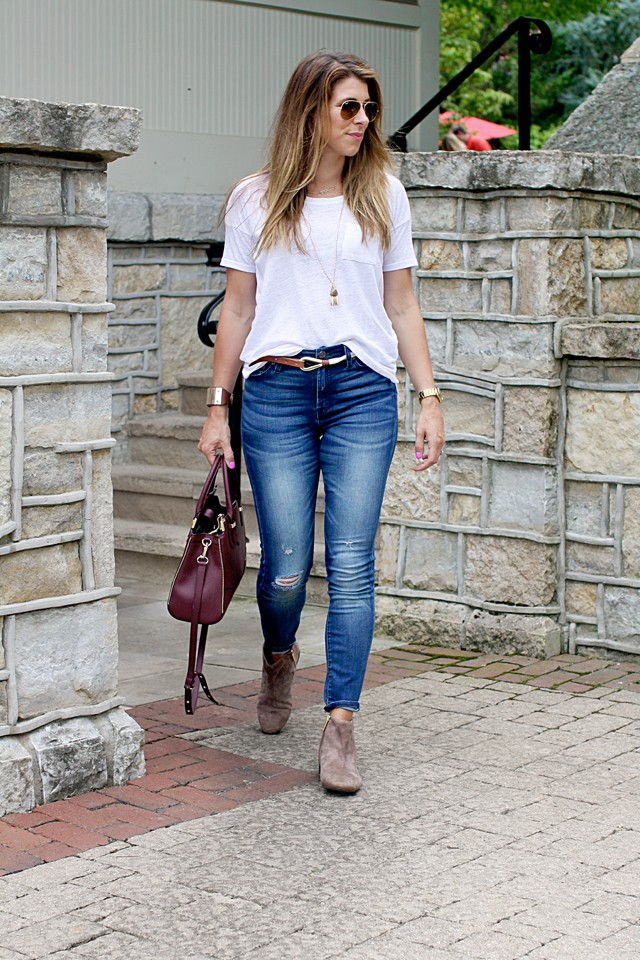 Outfit post plain white tee lou what wear for Jeans t shirt style