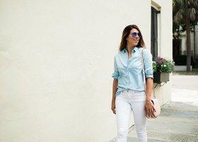 Chambray Shirt + White Denim * Vineyard Vines Chambray Shirt * Lou What Wear (13)