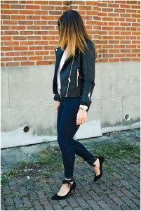 Nordstrom Blank NYC Leather Jacket * All Black Outfit * Lace Up Heels * Lou What Wear (17)
