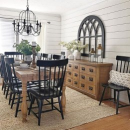 Rustic Farmhouse Dining Room Design Ideas 12