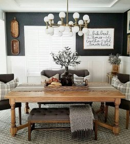 Rustic Farmhouse Dining Room Design Ideas 25