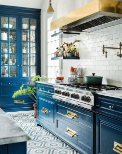 Cool Blue Kitchens Ideas For Inspiration 03