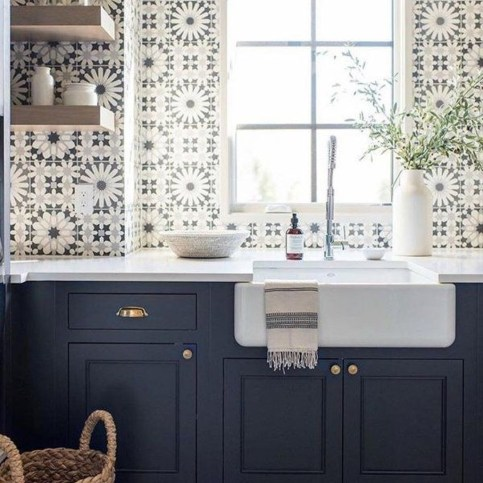 Cool Blue Kitchens Ideas For Inspiration 50