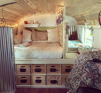 Cozy RV Bed Remodel Ideas On A Budget 19