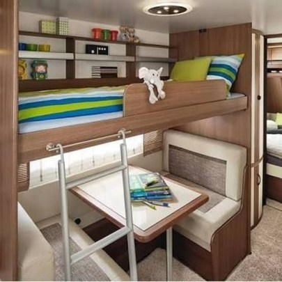 Cozy RV Bed Remodel Ideas On A Budget 44
