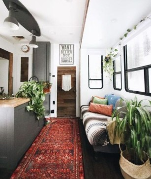 Cozy RV Bed Remodel Ideas On A Budget 52