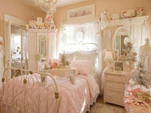 Cute Shabby Chic Bedroom Design Ideas For Your Daughter 06