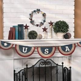 Elegant Vintage 4th Of July Home Decoration Ideas 03