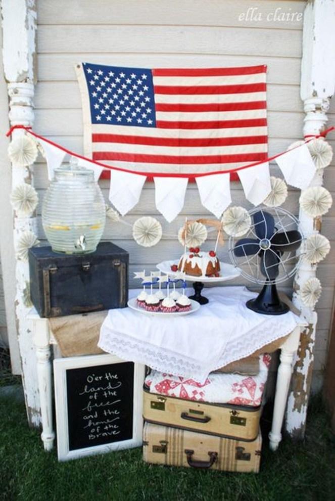 Elegant Vintage 4th Of July Home Decoration Ideas 06