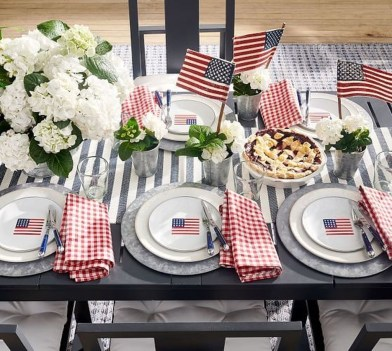 Inexpensive 4th Of July Decoration Ideas In The Dining Room 11