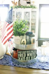 Inexpensive 4th Of July Decoration Ideas In The Dining Room 18