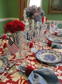 Inexpensive 4th Of July Decoration Ideas In The Dining Room 33