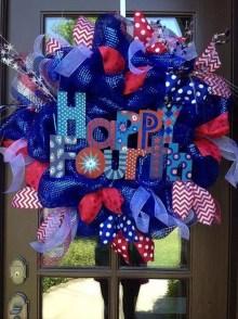 Pratiotic Handmade 4th Of July Wreath Ideas 02