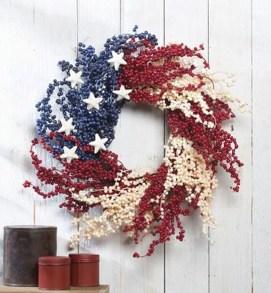 Pratiotic Handmade 4th Of July Wreath Ideas 11