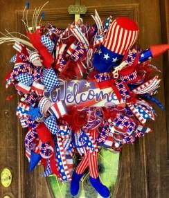 Pratiotic Handmade 4th Of July Wreath Ideas 19