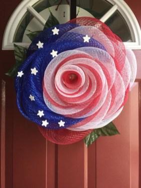 Pratiotic Handmade 4th Of July Wreath Ideas 24