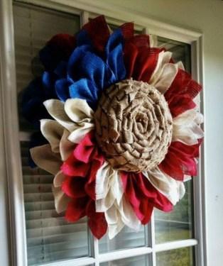 Pratiotic Handmade 4th Of July Wreath Ideas 25