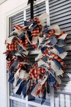 Pratiotic Handmade 4th Of July Wreath Ideas 27
