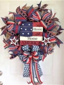 Pratiotic Handmade 4th Of July Wreath Ideas 41
