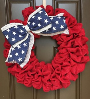 Pratiotic Handmade 4th Of July Wreath Ideas 44