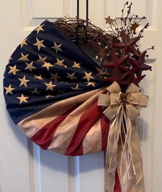 Pratiotic Handmade 4th Of July Wreath Ideas 54