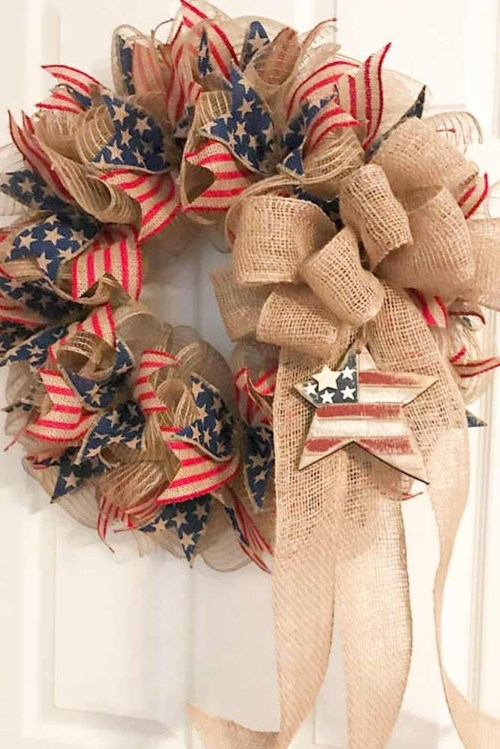 Pratiotic Handmade 4th Of July Wreath Ideas 55