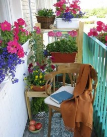 Stunning Balcony Decoration Ideas With Seating Areas 20
