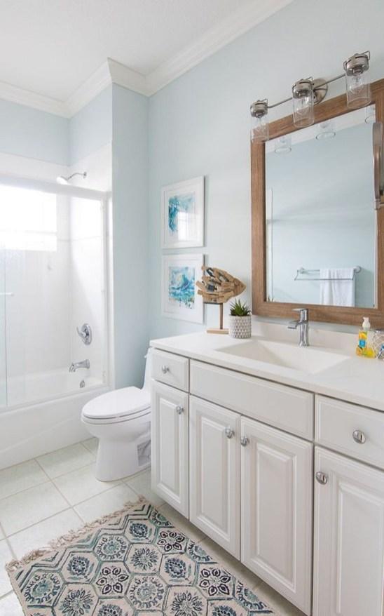 Stylish Coastal Bathroom Remodel Design Ideas 45