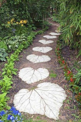 Awesome Small Garden Ideas With Stone Path 06