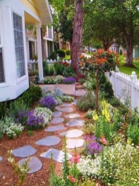 Awesome Small Garden Ideas With Stone Path 14