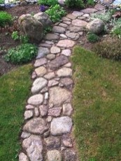 Awesome Small Garden Ideas With Stone Path 20