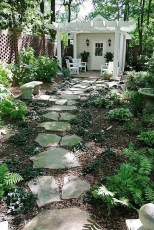 Awesome Small Garden Ideas With Stone Path 32