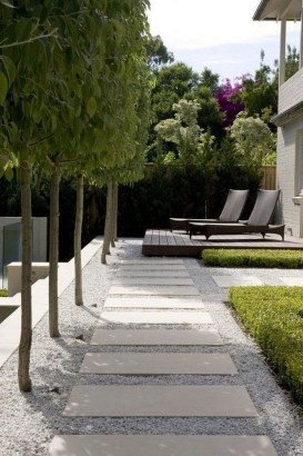 Awesome Small Garden Ideas With Stone Path 36
