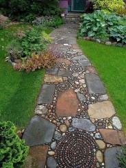 Awesome Small Garden Ideas With Stone Path 48