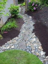 Awesome Small Garden Ideas With Stone Path 51