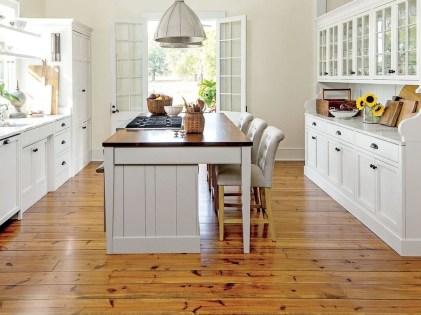 Stunning Wood Floor Ideas To Beautify Your Kitchen Room 01