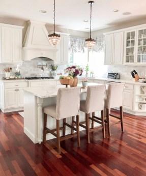 Stunning Wood Floor Ideas To Beautify Your Kitchen Room 09