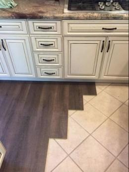 Stunning Wood Floor Ideas To Beautify Your Kitchen Room 11