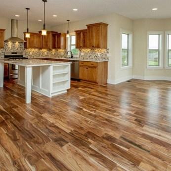 Stunning Wood Floor Ideas To Beautify Your Kitchen Room 12