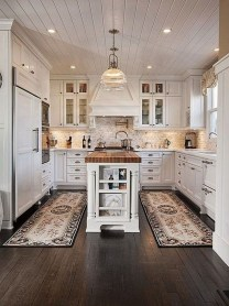 Stunning Wood Floor Ideas To Beautify Your Kitchen Room 13