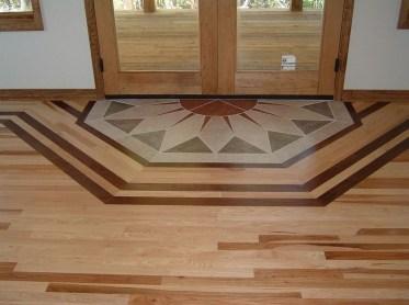 Stunning Wood Floor Ideas To Beautify Your Kitchen Room 14