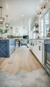 Stunning Wood Floor Ideas To Beautify Your Kitchen Room 16