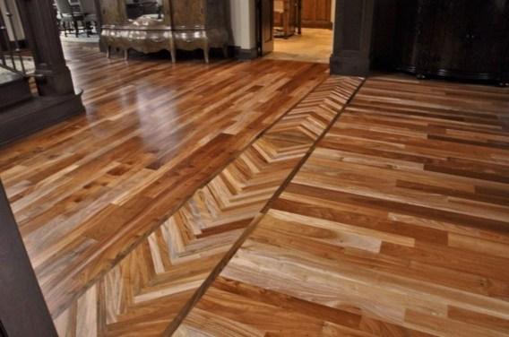 Stunning Wood Floor Ideas To Beautify Your Kitchen Room 24