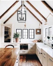 Stunning Wood Floor Ideas To Beautify Your Kitchen Room 32