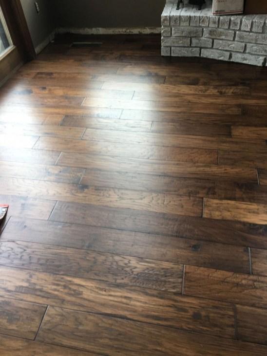 Stunning Wood Floor Ideas To Beautify Your Kitchen Room 50