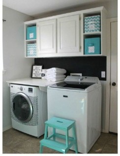 Wonderful Laundry Room Decorating Ideas For Small Space 22
