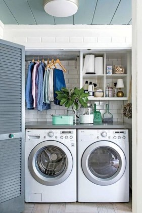 Wonderful Laundry Room Decorating Ideas For Small Space 34