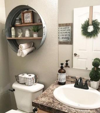 Amazing Bathroom Decor Ideas With Farmhouse Style 09