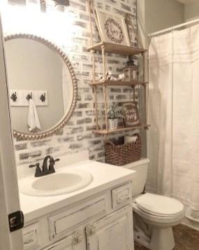 Amazing Bathroom Decor Ideas With Farmhouse Style 24