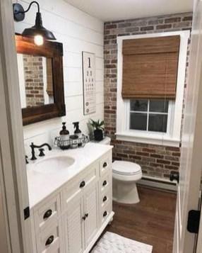 Amazing Bathroom Decor Ideas With Farmhouse Style 26